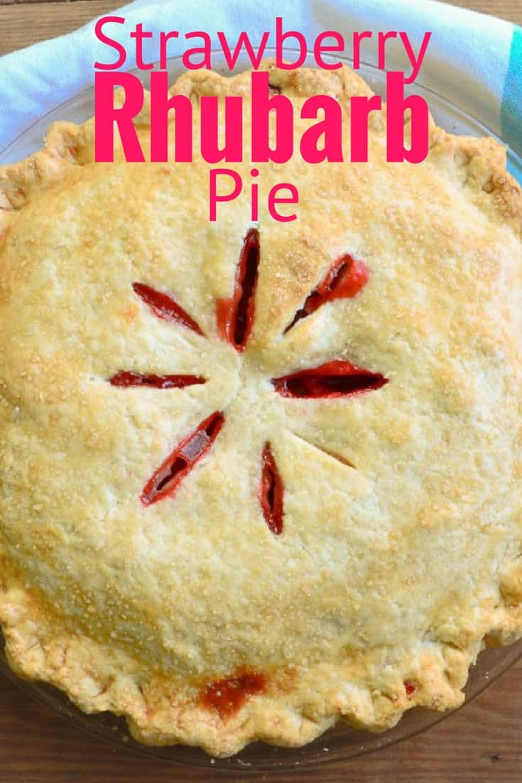 Sweet and tangy strawberry rhubarb pie is a classic summer dessert!