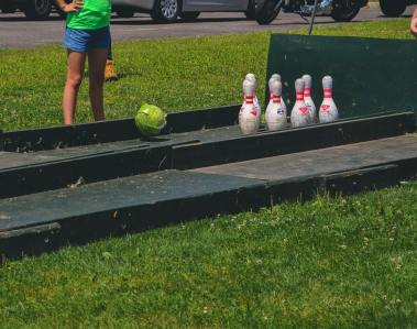 Cabbage Bowling at the Phelps Sauerkraut Weekend