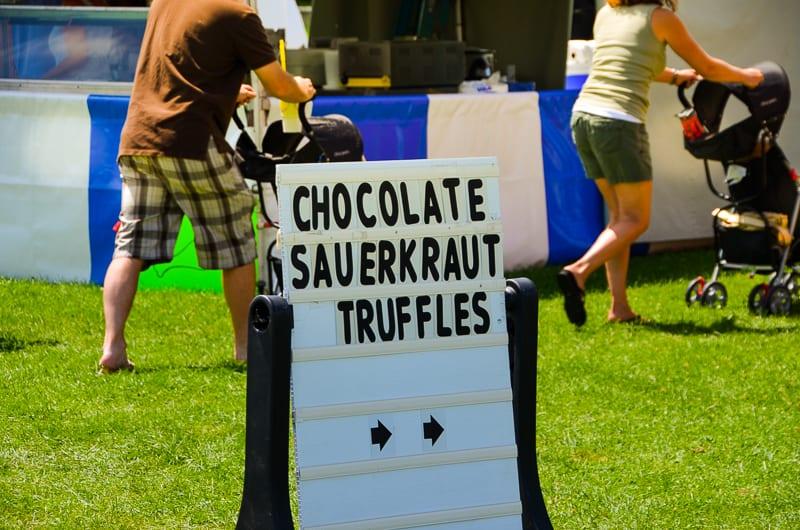 Sauerkraut Chocolate Truffles at the Phelps Sauerkraut Weekend
