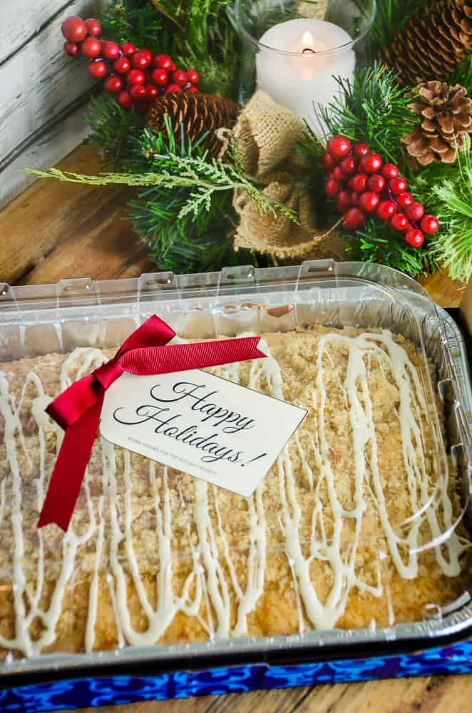 Overnight Holiday Streusel Eggnog Coffee Cake that will Make Your Brunch a Breeze