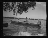 Mr. Babcock and his two sons, Earl and Howard, fishing on Sunday afternoon