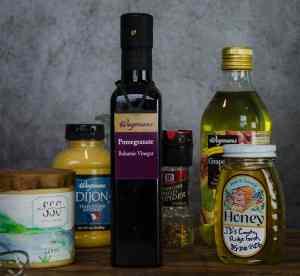 Spring Mix Salad with Pomegranate Honey Dijon Balsamic Vinaigrette