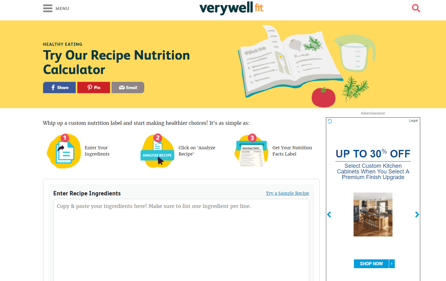 The easiest recipe calorie calculator 1step 1 head over to verywell forumfinder Images