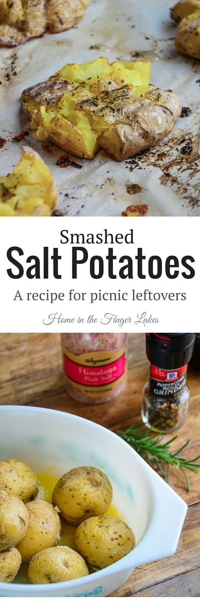 Wondering what to do with your leftover salt potatoes?  This recipe is incredibly easy and a very tasty way to use up those leftover potatoes.
