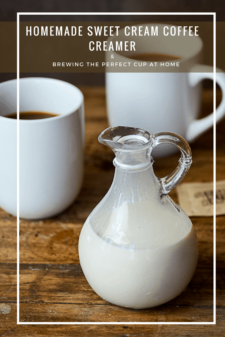 ... and now the making the perfect cup of coffee at home is easier than ever with the BUNN HB Coffee Maker and my homemade sweet cream coffee creamer.