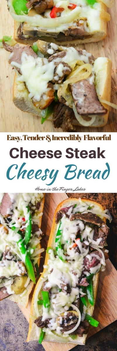Philly Cheese Steak Cheesy Bread. Beefy, cheesy and incredibly crave-worthy, serve up a taste of Philly at your next gathering.