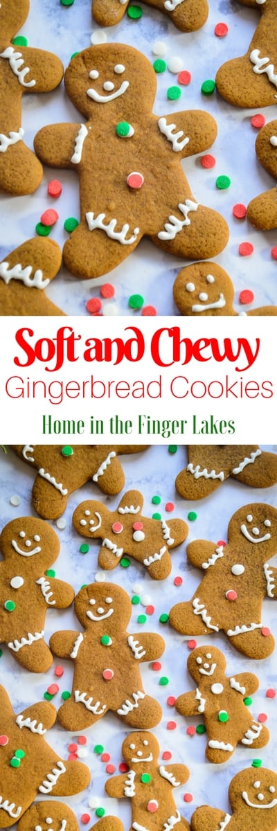 No holiday cookie tray is complete without a gingerbread man! These cut-out cookies are soft and chewy, with the classic spicey gingerbread flavor.