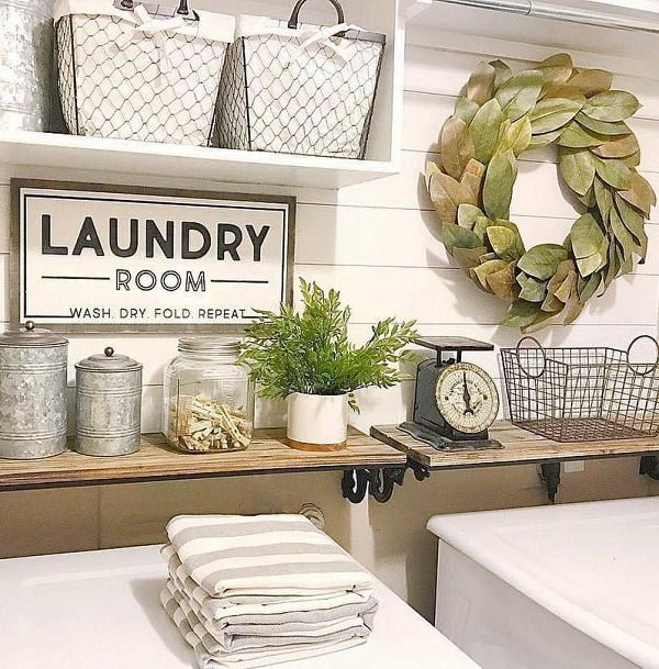 100 fabulous laundry room decor ideas you can copy on laundry room wall covering ideas id=71627
