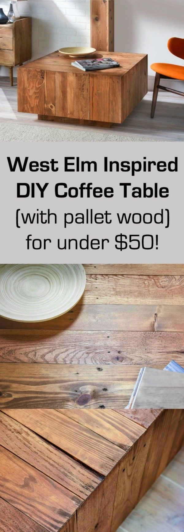 diy coffee table - 40 easy ideas you can make on a budget