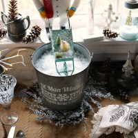 In the Potting Shed: Dining with Snowmen