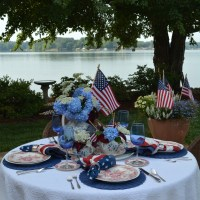 A Red, White and Blooming Patriotic Table!