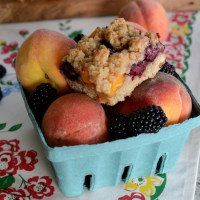 Peach-Blackberry Cobbler Bars