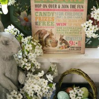 Hopping Down the Bunny Trail and Easter Egg Hunt Table