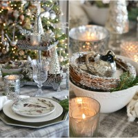 Sparkle and Twinkle for January and a Winter Nesting Table