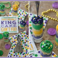 King Cake Mini Parfaits for Mardi Gras