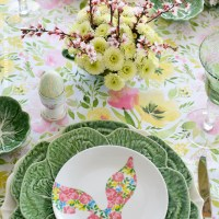 Hopping into Spring Tablescape and Blog Hop!