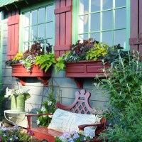 Window Dressing for the Potting Shed: Board and Batten Shutters