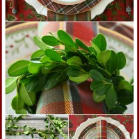 Christmas in July: DIY Boxwood Wreath Napkin Rings