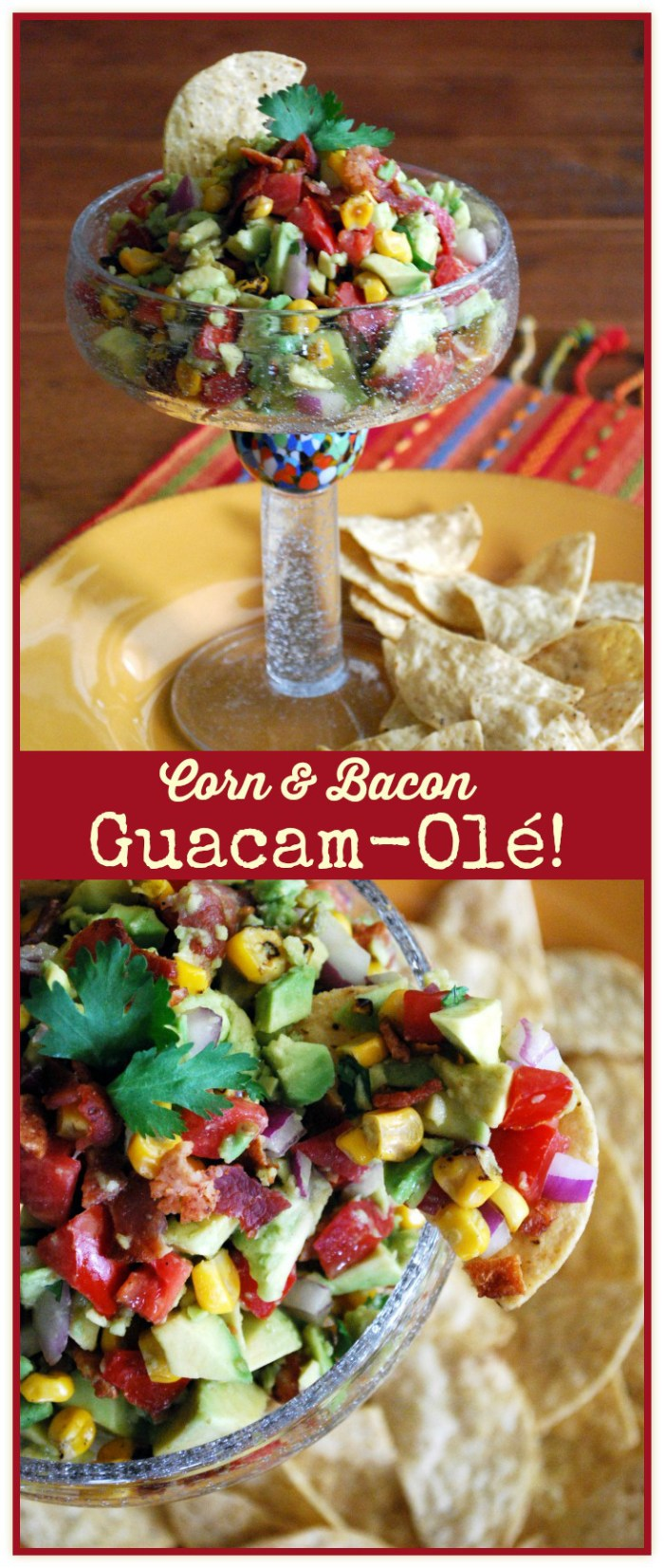 Corn and Bacon Guacamole | homeiswheretheboatis.net #cincodemayo