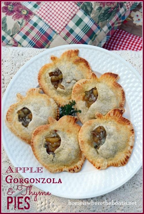 Apple Gorgonzola & Thyme Pies