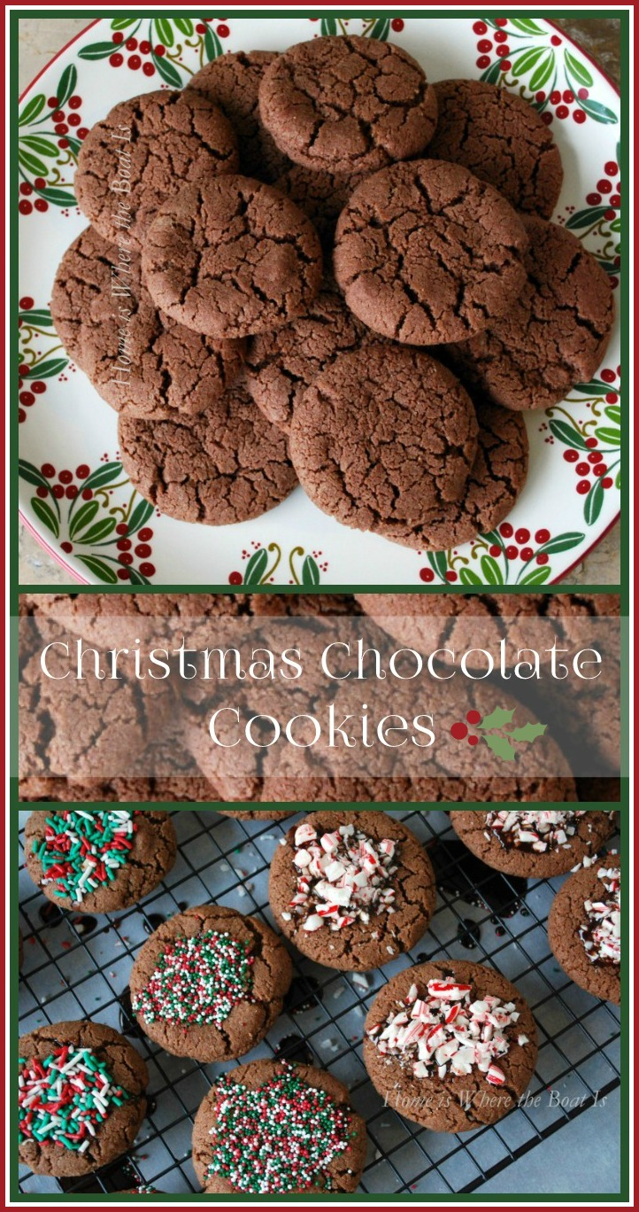 Nigella Lawson's Christmas Chocolate Cookies | ©homeiswheretheboatis.net #christmas #cookies #recipes
