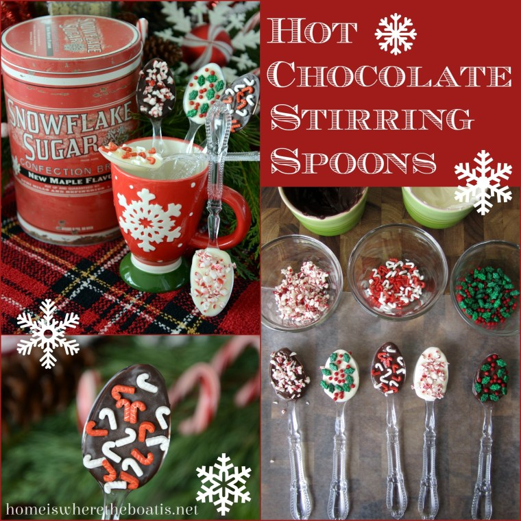 Hot Chocolate Stirring Spoons. easy and fun to make! | homeiswheretheboatis.net