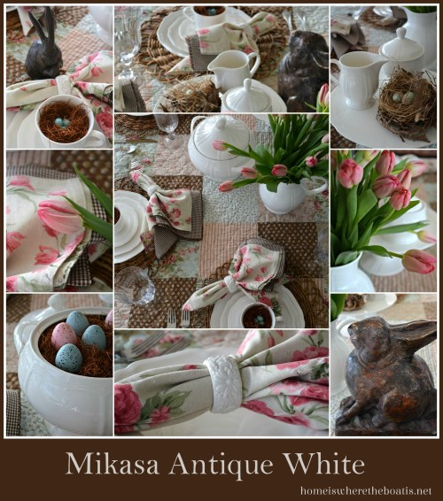 Mikasa Antique White, Home is Where the Boat Is