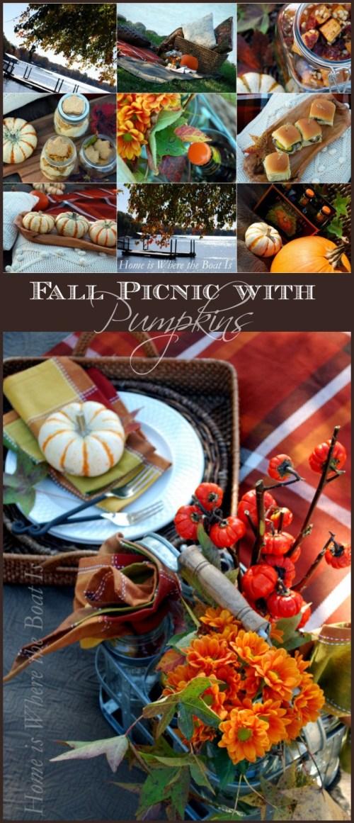 Fall Picnic with Pumpkins