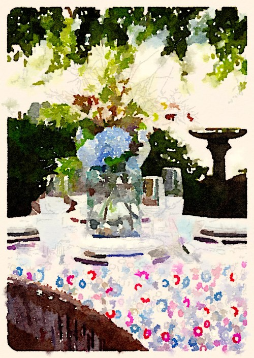 waterlogue Aliza table