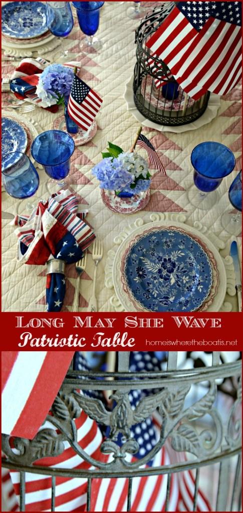 Long May She Wave Patriotic Table