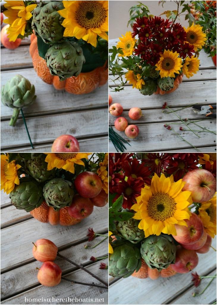 Pumpkin Tureen Vase DIY