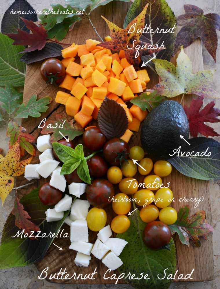 Butternut Caprese Salad Ingredients