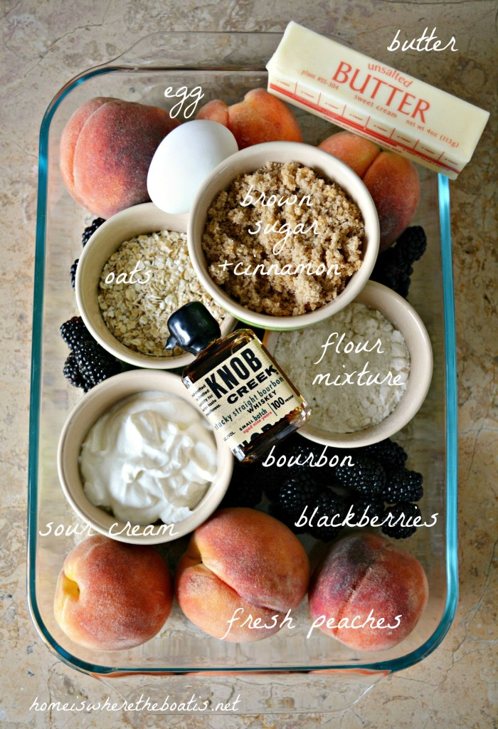 Peach-Blackberry Cobbler Bar Ingredients