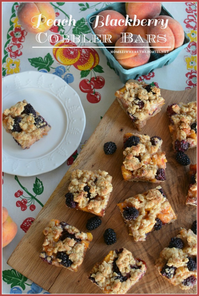 Peach-Blackberry Cobbler Bars1