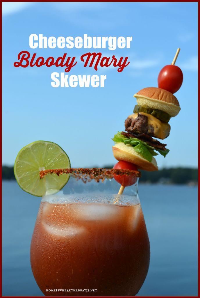Cheeseburger Bloody Mary Skewer