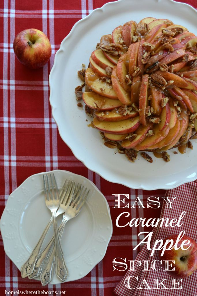 Easy Caramel Apple Spice Cake