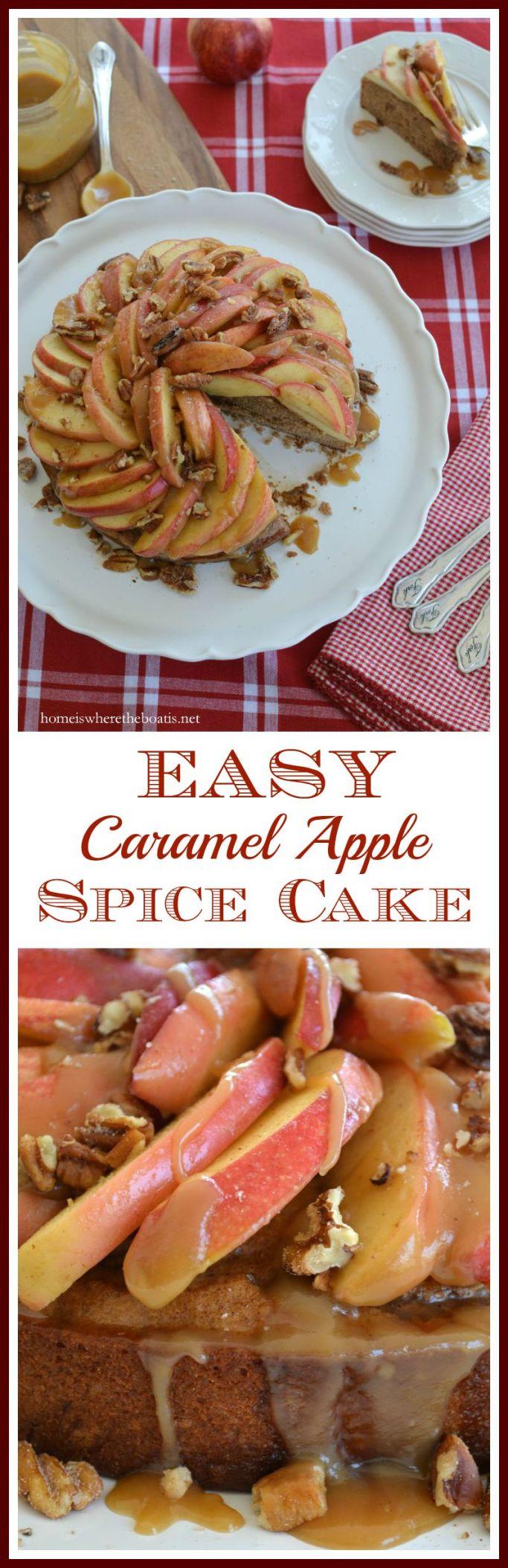 Easy Caramel Apple Spice Cake