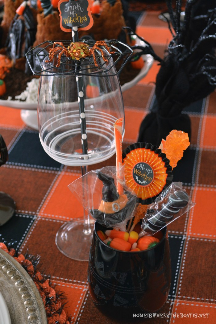 The Witching Hour Halloween Tablescape | ©homeiswheretheboatis.net #Halloween #tablescape
