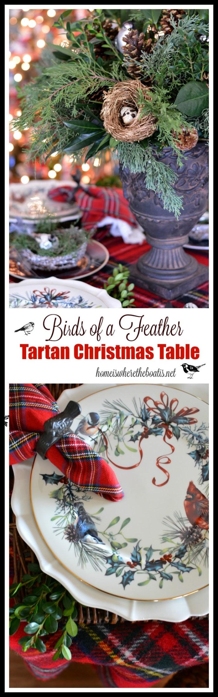 Birds of a Feather Tartan Christmas Table