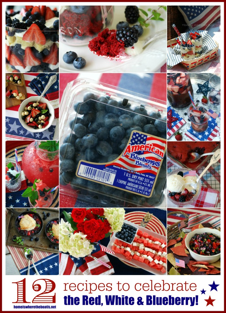 12 recipes to Celebrate the Red White & Blueberry