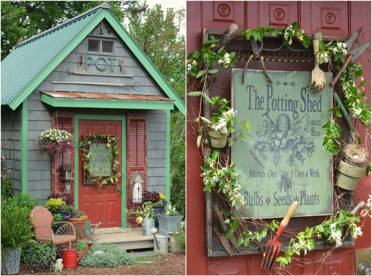 Potting Shed Door Sign