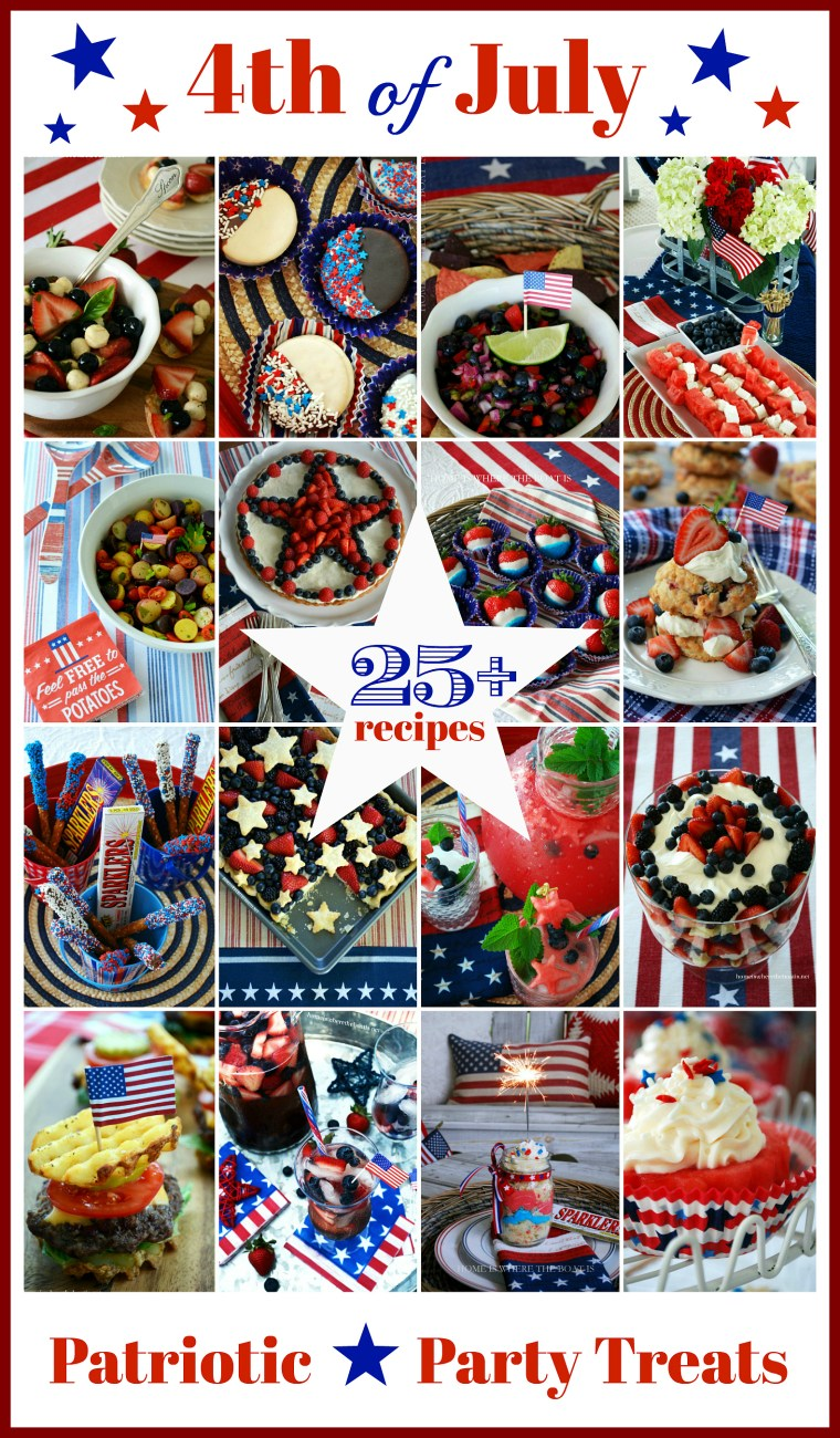 25+ July 4th Party and Patriotic Treats for your Star-Spangled Celebration! | ©homeiswheretheboatis.net #recipes #dessert #appetizer #cocktail #4thofJuly #patriotic #party