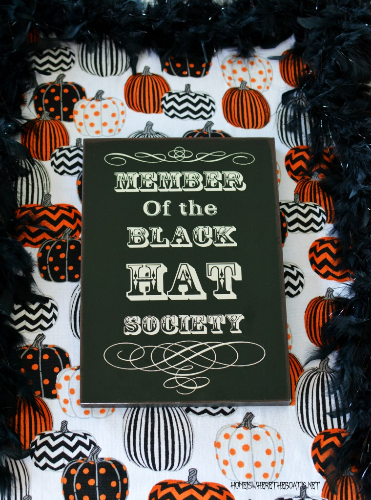 Member of the Black Hat Society Giveaway | ©homeiswheretheboatis.net #halloween