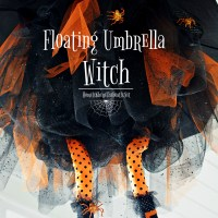 Floating Umbrella Witch DIY for Halloween