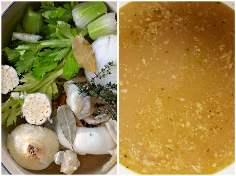 Chicken stock recipe | ©homeiswheretheboatis.net #soup #recipes