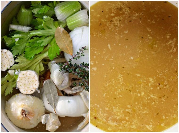 Chicken stock recipe | ©homeiswheretheboatis.net #soup #recipes