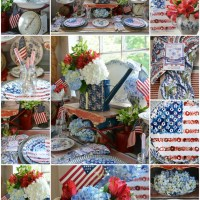 In the Potting Shed: Celebrating the Red, White and Bloom!