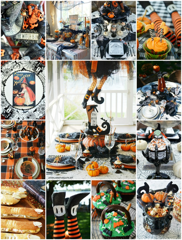Witching Hour Halloween Tricks & Treats | ©homeiswheretheboatis.net #tablescapes #recipes #Halloween #witch #tablescapes