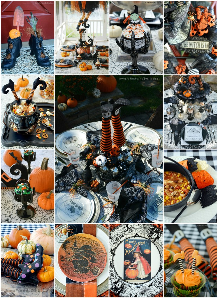 The Witching Hour Annual Halloween Giveaway! Halloween Tricks & Treats | ©homeiswheretheboatis.net #tablescapes #recipes #Halloween #witch #tablescapes