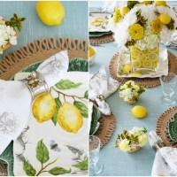 All Abuzz: Lemons and Bees Flower Arrangement and Tablescape